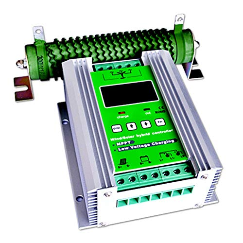 Solarregler 1400W MPPT Windturbine Solar Laderegler 800 Watt Windturbine 600 Watt Solarladeregler 12 V / 24 V Auto Boost Hybrid Controller Mit Freier Kipplast Solarzubehör