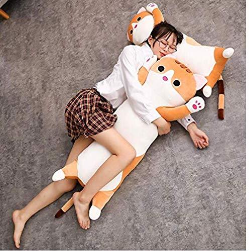 AMOYER Cat Kissen Plüsch - Lange Cat Kissen Plüschtier Weiches Kissen Stofftier Puppe Schlafsofa Schlafzimmer-Dekor Geschenke für Kinder - 24 Zoll
