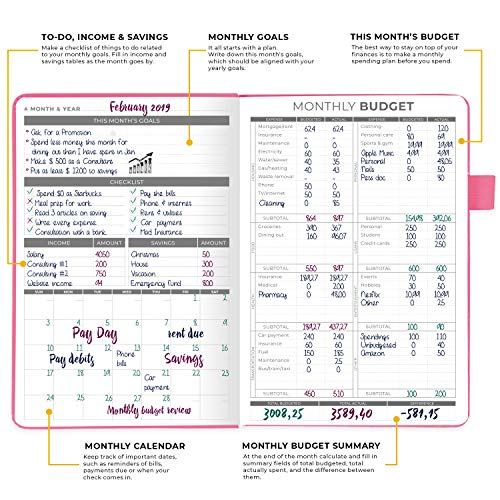 Product Image 2: Clever Fox Budget Planner – Expense Tracker Notebook. Monthly Budgeting Journal, Finance Planner & Accounts Book to Take Control of Your Money. Undated – Start Anytime. A5 Size Light Pink Hardcover