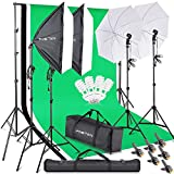 FOSITAN Kits d'éclairage Studio Kit Studio Photo avec 2.8M x 3M Fond...