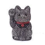 LASTARTS Diamond Lucky Cat Clutch Bag Kettenbohrmaschine Abendtasche Lady Bag Dinner Bag Kette Cross Small Bag Bankett Handtasche (Farbe : AS Photo)