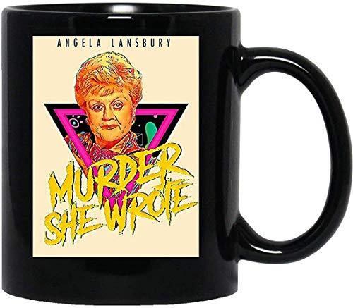 NA Murder She Wrote Retro Realness Jessica Fletcher Angela Lansbury Mug con Manico, Tazza da caffè Riutilizzabile in Ceramica isolata, Tazza da Viaggio per caffè