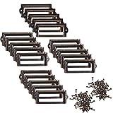 BCP 20pcs 83 x 30mm Bronze Color Metal Office File Cabinet Shelves Drawer Name Card Label Holder Frames with Screws