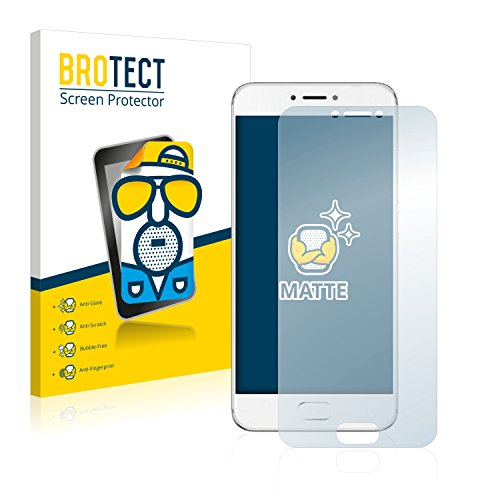 BROTECT 2X Entspiegelungs-Schutzfolie kompatibel mit Meizu Pro 6 Bildschirmschutz-Folie Matt, Anti-Reflex, Anti-Fingerprint