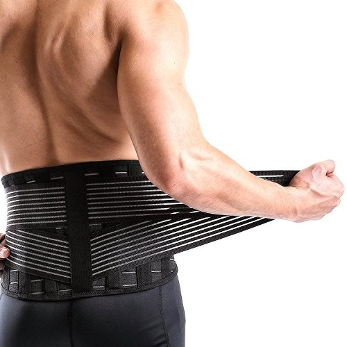 Vital Salveo-Adjustable Germanium and Bamboo Charcoal Lower Back Support Relieve Back Pain, Sciatica C-Fit (XX-Large)