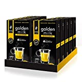 King Cup - 10 Paquetes de 10 Cápsulas de Golden Milk Sin Azúcar, 100 Cápsulas 100% Compatible con el Sistema Nespresso de Bebida con Sabor de Golden Milk, Sin Gluten y Sin Lactosa