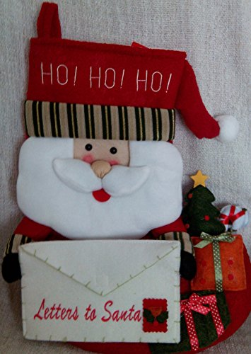 Carta a Papá Noel tamaño grande calcetín de Navidad de Papá Noel Diseño de Papá Noel–con forro interior