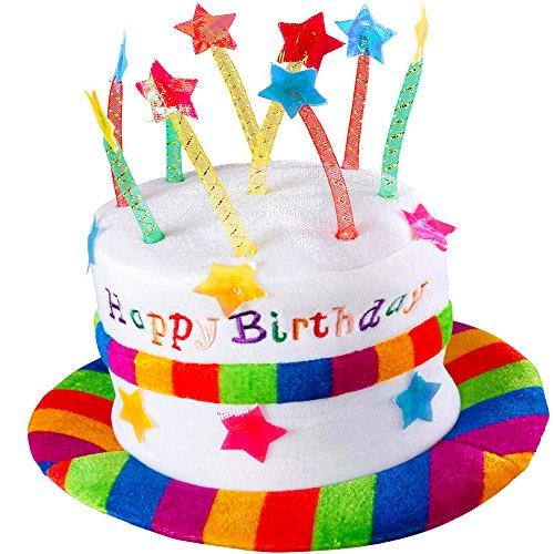 German Trendseller® - Geburtstags Hut mit Kerzen ★ NEU ★ ┃ Happy Birthday Hut ┃ Kindergeburtstags ┃ Torten - Hut ┃ Geburtstags - Party - Hut