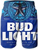 Bud_Light Beach Shorts for Men Men's Quick Dry Swim Trunks Print Beach Board Shorts Bathing Suits with Mesh Lining