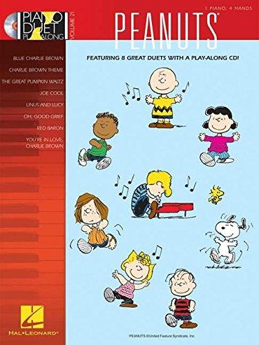 Piano Duet Play-Along Volume 21 Peanuts Pfduet Book/Cd