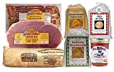 Hickory Smoked Country Ham Steaks 1 lb and 2 lbs Hickory Smoked Pork Sausage Our best Applewood Smoked Cured Bacon 14 oz Complete Biscuit Mix 10oz, Peppered Gravy 4oz Hoe Cake Mix 10oz and real southern style grits 9oz A thoughtful gift for friends a...