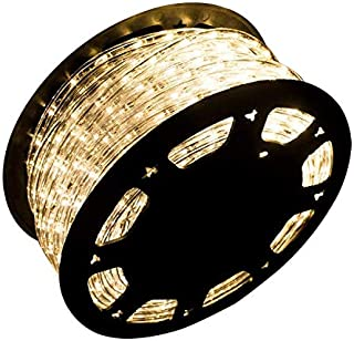 Ainfox LED Rope Light, 150Ft 1620 LEDs Indoor Outdoor Waterproof LED Strip Lights Decorative Lighting (Warm White)