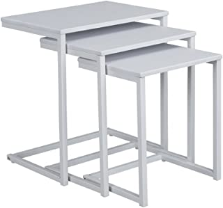 Best set of 3 white nesting tables Reviews