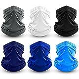 Dapaser 6 Pack Bandana Face Mask Breathable Cooling Neck Gaiters for Men Women Dust UV Protection Reusable Face Cover...
