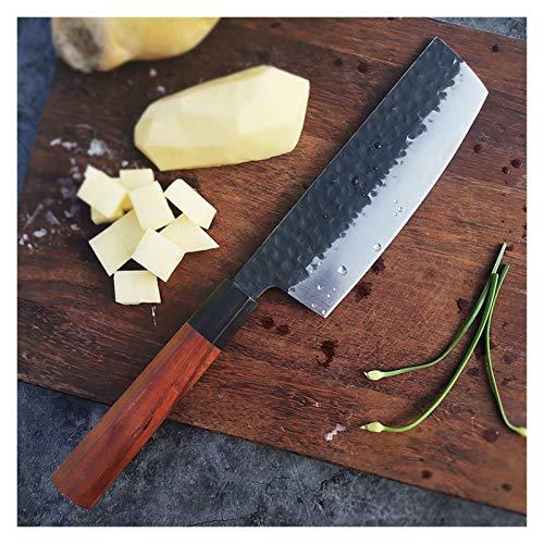Cuchillo de Carnicero Cuchillos de cocina 8 pulgadas Chef japonesa 5CR15MOV 3 Capa Acero compuesto Cuchilla de carne Slicer Sector de cortador Santoku Cuchillo de cocina Octagonal Cuchillo de cocina