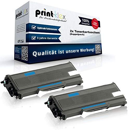 Print-Klex - 2 cartuchos de tóner alternativos compatibles con Brother DCP 7030 DCP 7040 DCP 7045 DCP 7045 N TN2120 TN-2120 Toner Premium – Color Plus Serie – Pack doble