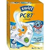 Swirl PC 87 MicroPor Plus Staubsaugerbeutel für Panasonic Staubsauger, Anti-Allergen-Filter, 4 Stück inkl. Filter