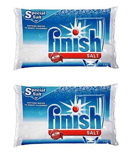 Finish Geschirrspüler Wasserenthärter Salz für Bosch Geschirrspüler 2er Pack 4,0 kg