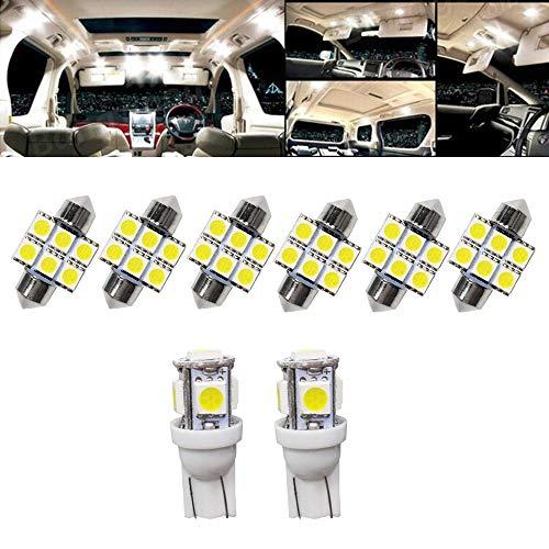 9PCS/Set T10 31MM LED Ampoules de Voiture Lampe 5050 SMD Intérieur De Voiture Lumière Dôme Carte Côté Feux De Plaque Feu De Stationnement Sans Erreur pour IX25 2015