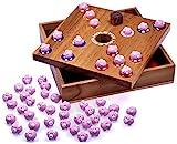 Logoplay Holzspiele Pig Big Schweinchenspiel - Würfelspiel - Gesellschaftsspiel - Brettspiel aus Holz