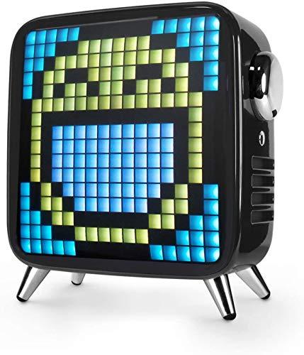 Divoom Tivoo Max 2.1 LED Bluetooth Lautsprecher mit Mehrfarbiger LED Anzeige,10000mAh 40W Musikbox, Smart Digital lichtwecker, für Dekoration, Nachtlicht, Party (schwarz)
