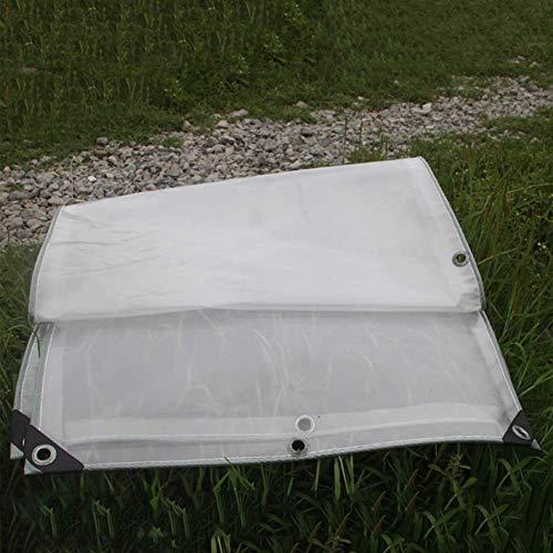 Dekzeil voor binnen en buiten, transparant voor afdekking, regenbestendig, winddicht, versterkt PE-multifunctioneel zeil met oogjes (grootte: 2 × 6 m) 3×4m