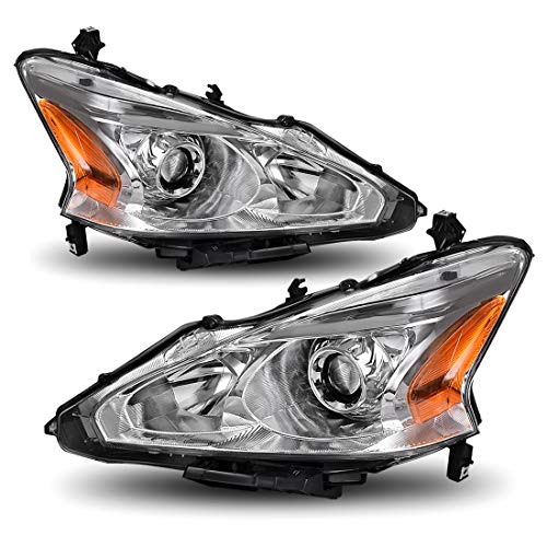 AUTOSAVER88 Projector Headlight Assembly Compatible with 2013-2015 Nissan Altima 4-Door Sedan,Chrome Housing