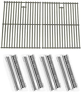 810-7451-F 810-8532-F 810-8530-S 810-8500-F 810-8500-S 810-8530-F 4 PACK Stainless Steel Heat Plate Replacement for Brinkmann 810-8500-F 810-8530-F 810-8530-S Gas Grill Models 810-8500-S 810-7451-S and Charmglow 810-7450-S 810-7450-S