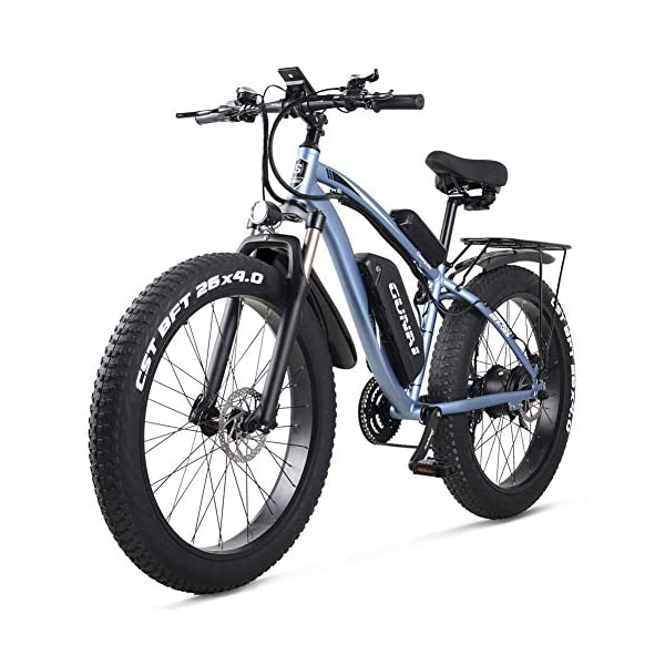 "51CyGrNcyEL. SS600  - GUNAI Electric Bike1000W 48V Offroad Fat 26 ""4.0 Reifen E-Bike Electric Mountainbike mit Rücksitz"
