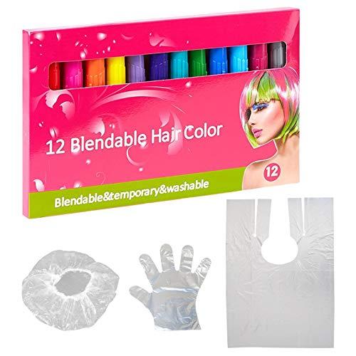 joyMerit Barra de Tinte de Tiza para El Cabello DIY Desechable Temporal para Pinturas Faciales de Fiesta para Niñas