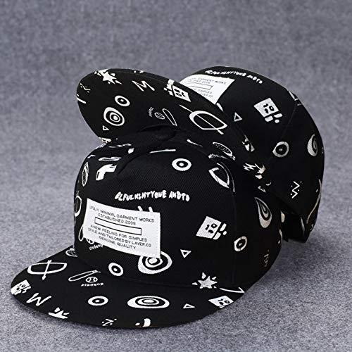 Sombrero Femenino de Verano Sombrero de Borde Plano Masculino Estilo Coreano espectculo de Hip-Hop Moda Salvaje Hip-Hop Sombrero Calle Sombrero de Moda
