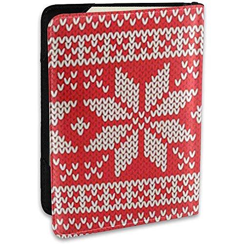 Funda Pasaporte Patrón Rojo Suéter navideño Jumper