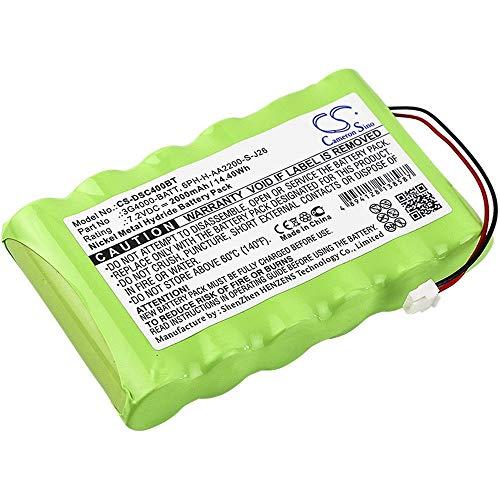 Batería recargable del Sistema de alarma Batería del sistema de alarma Ni-MH 2000mAh / 14.40Wh Compatible para DSC Compatible con el modelo 3G4000 Batería recargable recargable del sistema de alarma d