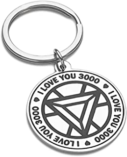 I Love You 3000 Gift for Daughter Son Dad Mom Marvel Avenger Fans Gifts Boyfriend Girlfriend Anniversary Keychain for Husband Wife Iron Man Gift Couple Birthday Gift for Her Him Women Men