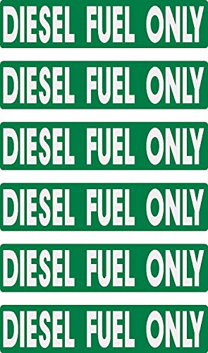 diesel fuel only, prime, fast delivery, 6 decals as shown, waterproof, laminated, UV fade protected, alert, warning, caution, notice, stickers, decals, for vehicle, car, truck, barrel, can, sign