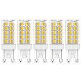 5X G9 Bombillas de LED 5W Iluminación Bombillas Blanco Cálido 3000K Lámpara LED 44 SMD 2835LEDs Super Brillante 450LM LED Lamps AC220V-240V
