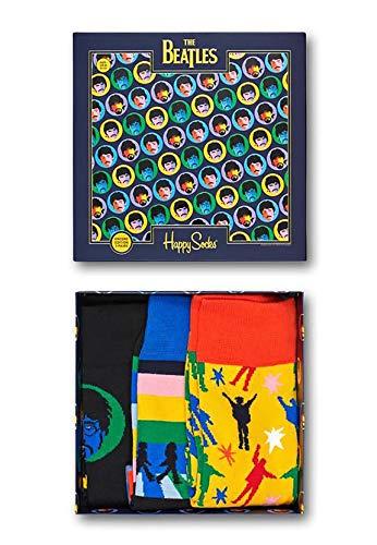 Happy Socks Beatles Gift Box Calcetines, Multi, 36-40 (Pack de 6) Womens