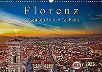 Florenz - Schoenheit in der Toskana (Wandkalender 2022 DIN A3 quer): Florenz - wunderschoen und das kulturelle Highlight in der Toskana (Monatskalender, 14 Seiten )