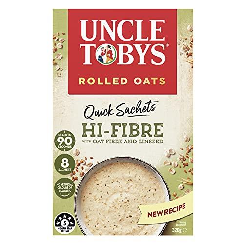 UNCLE TOBYS Oats Quick Sachets High Fibre, 8 Sachets