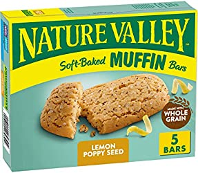 Nature Valley Soft-Baked Muffin Bars Lemon Poppy Seed, 6.2 oz, 5 ct