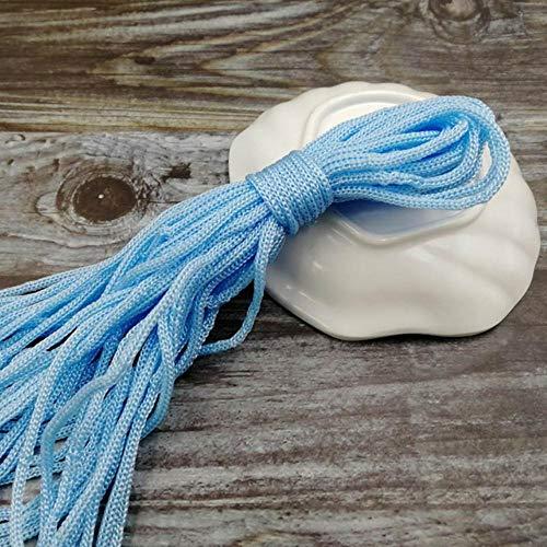 WEDSA Venta al por Mayor 10M Dia.3mm Strand Core Pulsera Cordón Cuerda para Acampar Tendedero Supervivencia Paracaídas Cord-Light Blue 10M