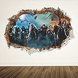 Harry Potter 3D Loch Wand Poster Hogwarts Schule