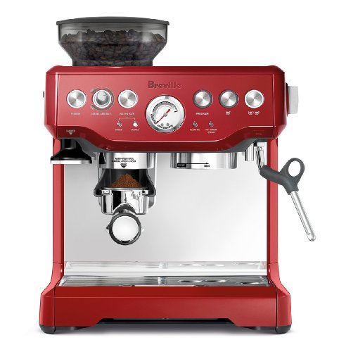 Breville BES870CBXL Barista Express Espresso Machine, Cranberry Red