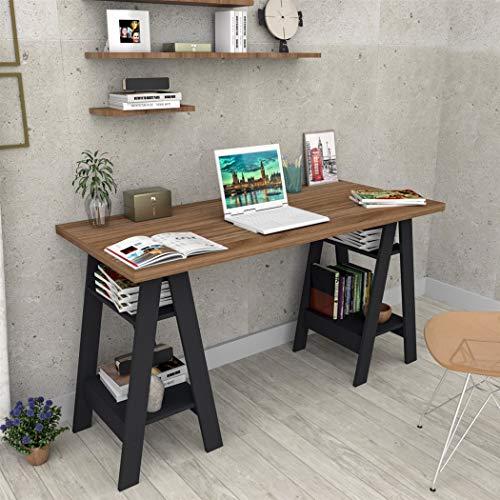 Mesa Escrivaninha Self Castanho e Preto - Appunto
