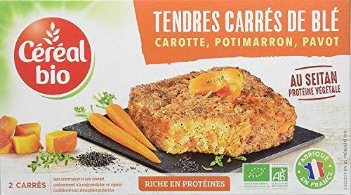Céréal Bio Tendres Carrés de Blé - Carotte, Potimarron, Pavot (2x100g)- 200 g