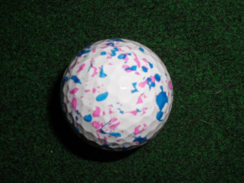 White Confetti Themed Golf Ball Great Gift Item!
