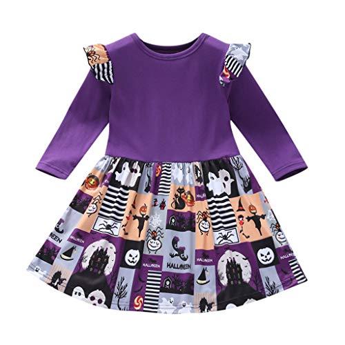 Longra Dames baby Halloween prinsesjurk met ruches, jurk met letter Teufel, bedrukt, cosplay, Halloween, kostuum, avondjurk, bloem, tutu, rok