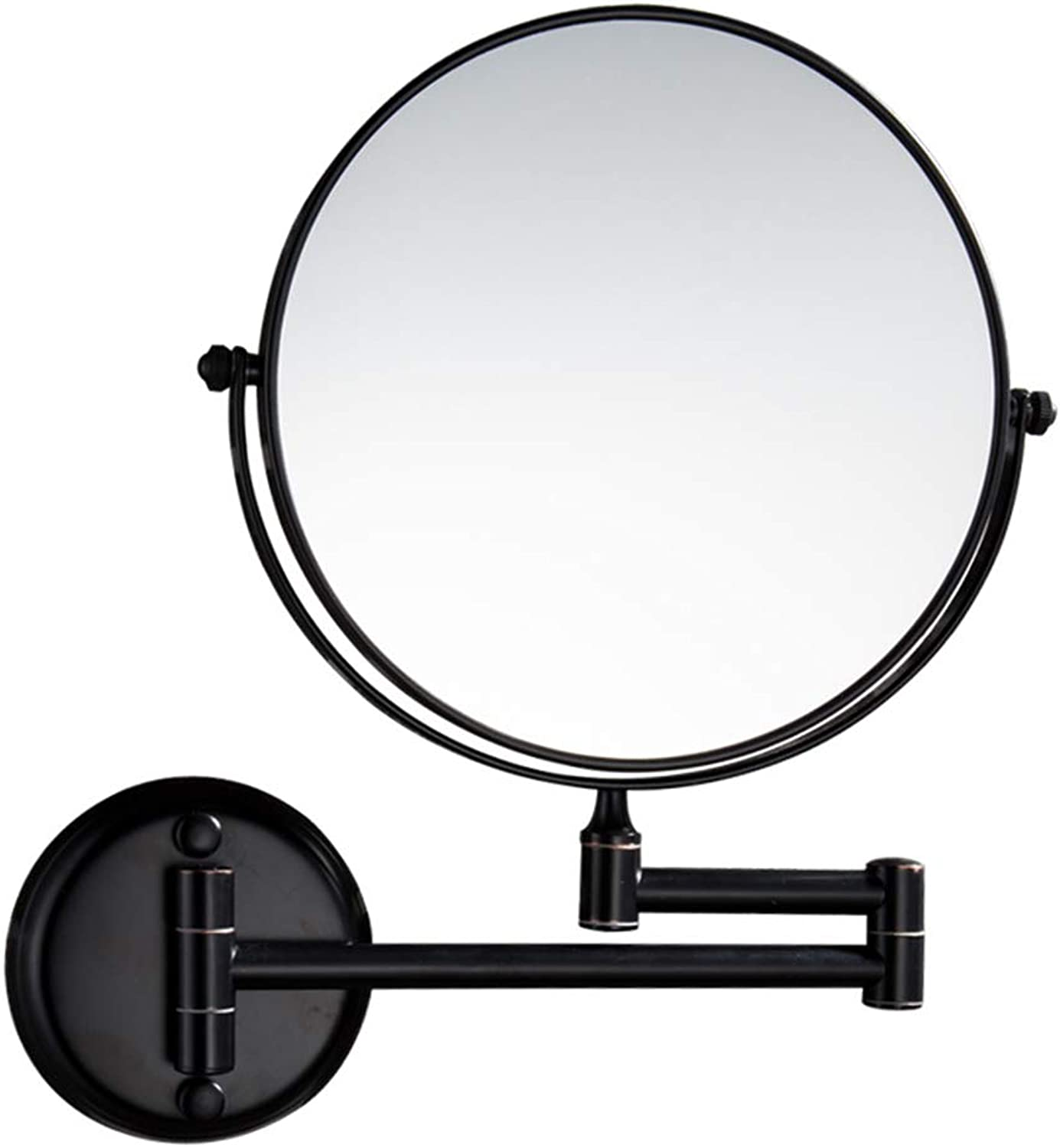 8-Inch Wall-Mounted Vanity Mirror with 360° Free redation and 12.5-Inch Telescopic Rod Expandable,B,6Inchs10x2