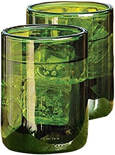 Recycled Wine Bottle Tumblers Green Set of 4#5204
