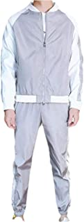 Men's Loose 2 Piece Athletic Tracksuit Full Zip Casual Jogging Gym Sweat Suits